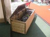 Lutra Box Tuinkist 190x67x67 met gasdrukveren_