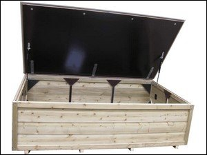 Lutra Box Tuinkist 170x100x56 met gasdrukveren