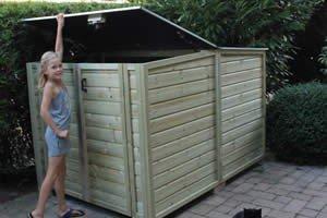 Lutra Box Fietsenberging 175x215x130