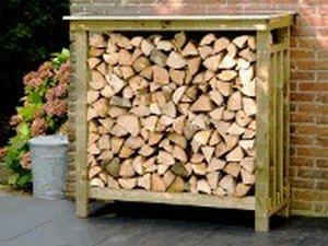 Lutra Box Houtopslag Tuinwerktafel