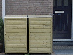 Lutra Box Afvalcontainer Berging 76x79x116 260L