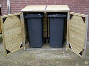 Lutra Box Afvalcontainer Dubbele Kast 125x65x111,5 2x120L