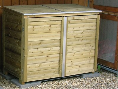 Lutra Box Afvalcontainer Dubbele Kast 125x65x125 2x140L