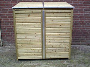 Lutra Box Afvalcontainer Dubbele Kast 141x90x125 2x240L