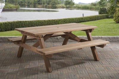 Picknicktafel 160 x 180 Hardhout