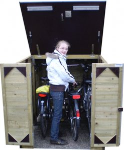 Lutra Box Fietsenberging 125x215x130