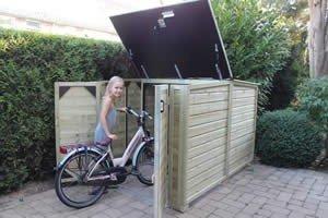 Lutra Box Fietsenberging 150x215x130