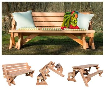 2-in-1 Picknicktafel